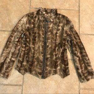 Custom Designed 100% Mink Snake Skin Jacket Silk